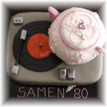 hoera 80 taart