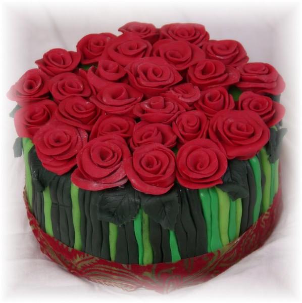 taart met rozen