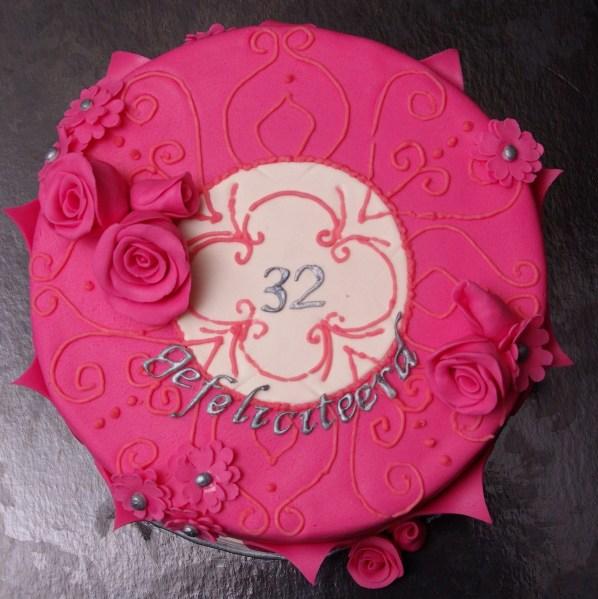 roze chocolade taart