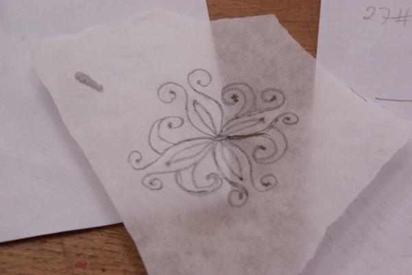 schets voor bruidstaart
