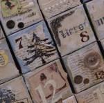 detail doosjes adventkalender gescrapt mixed media