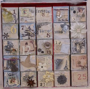 alle doosjes van de adventkalender scrap mixed media