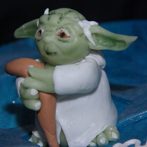 master yoda on cake star wars taart