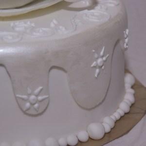 winters en wit met glimmers en royal icing spuitwerk