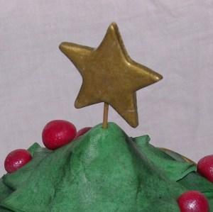 kerstboom chocoladetaart