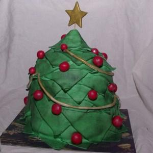 chocolate mudcake kersttaart