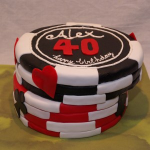poker fiches taart