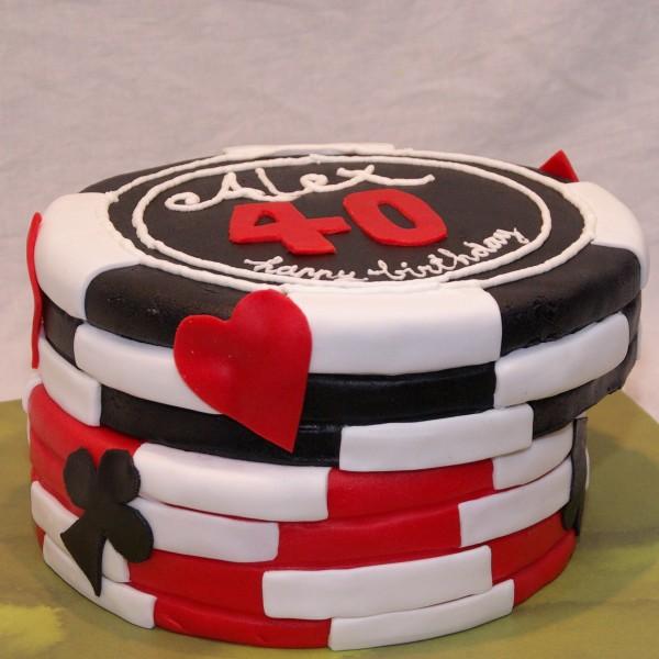 poker fiches taart