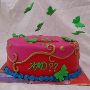 oilily taart met vlinders