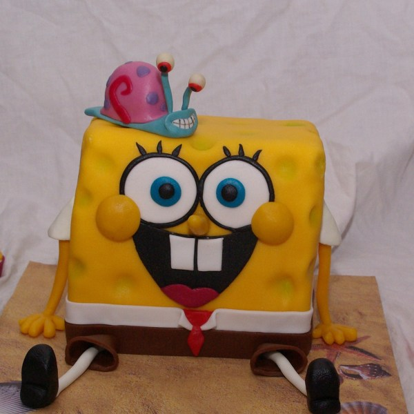 spongebob squarepants and gary cake