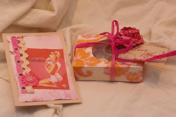 valentijnbonbons met valentijnkaartje