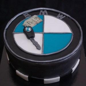 bmw taart met autosleutel