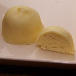 witte chocoladebonbon witte chocolade boter truffel met honing