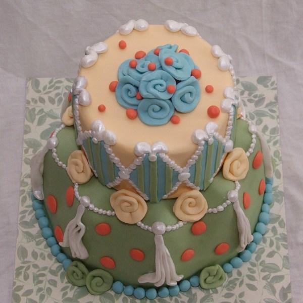 bruidstaart proeftaart dummytaart margaret braun achtig wavy edge cake