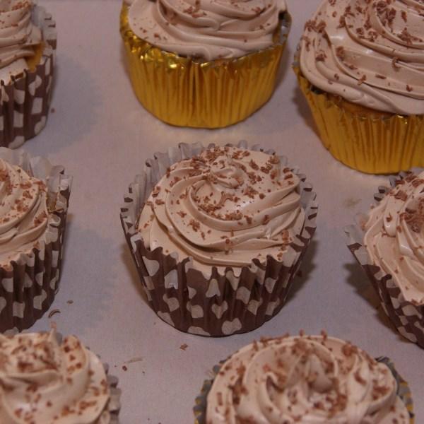 vanille chocolade cupcake