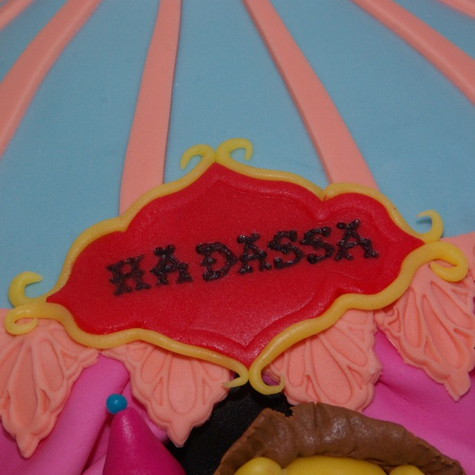 circus cake tenttaart