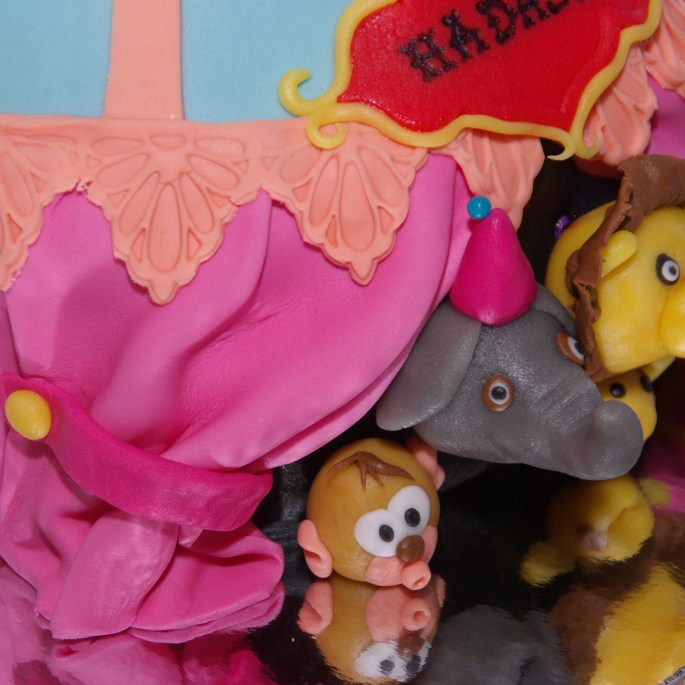 circus cake animals circustent taart
