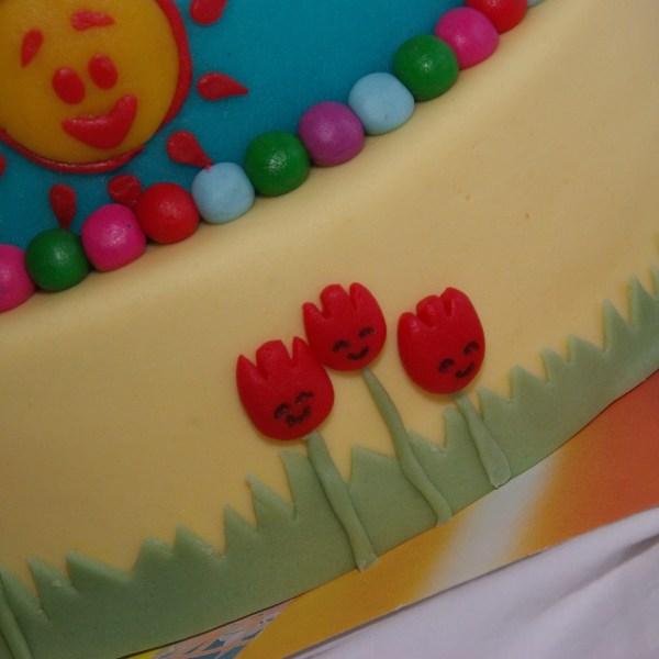 woezel en pip taart tulpen
