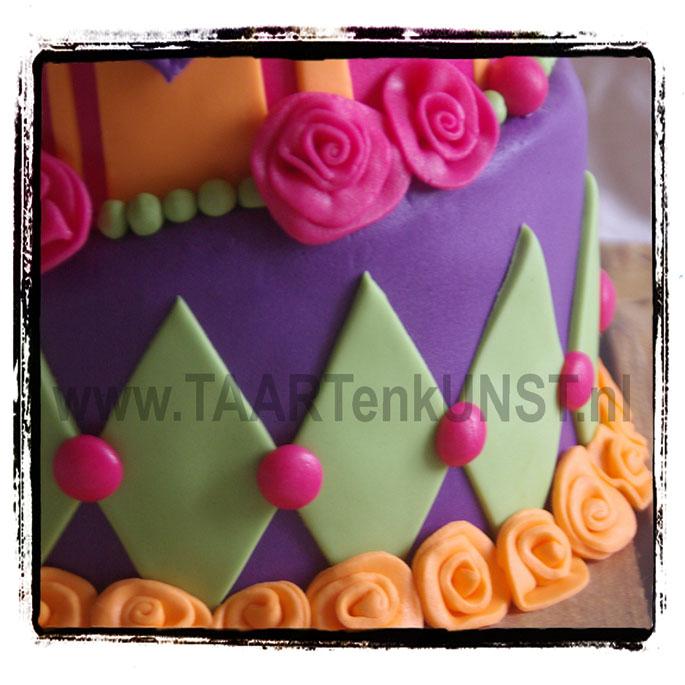 whimsical topsy turvy birthday cake taart