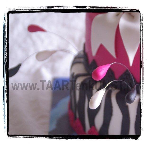 birthday cake zebra pink