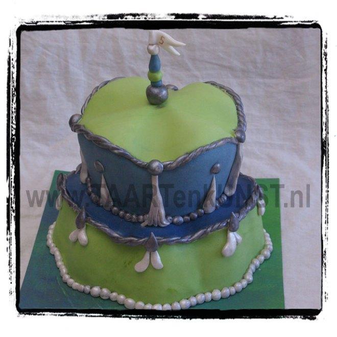 barok achtige margaret braun achtige groen blauwe taart