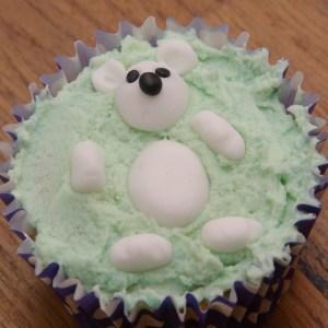 dierencupcakes ijsbeer