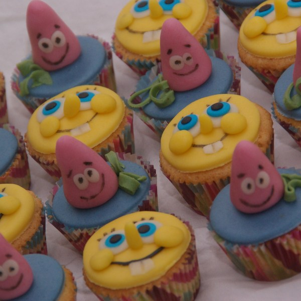 spongebob en patrick cupcakes