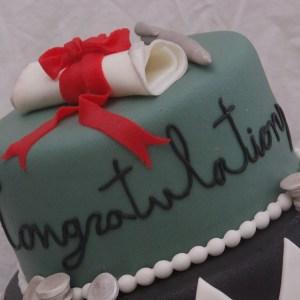 taart voor afstuderen