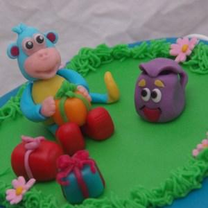 Dora rugzak boots taart