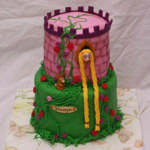 disney prinsessen rapunzel kasteel taart