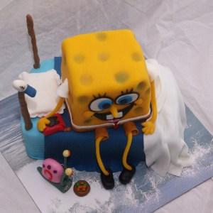 spongebob squarepants taart met gerrit