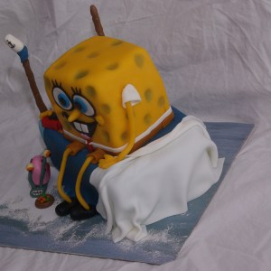 spongebob and gary cake