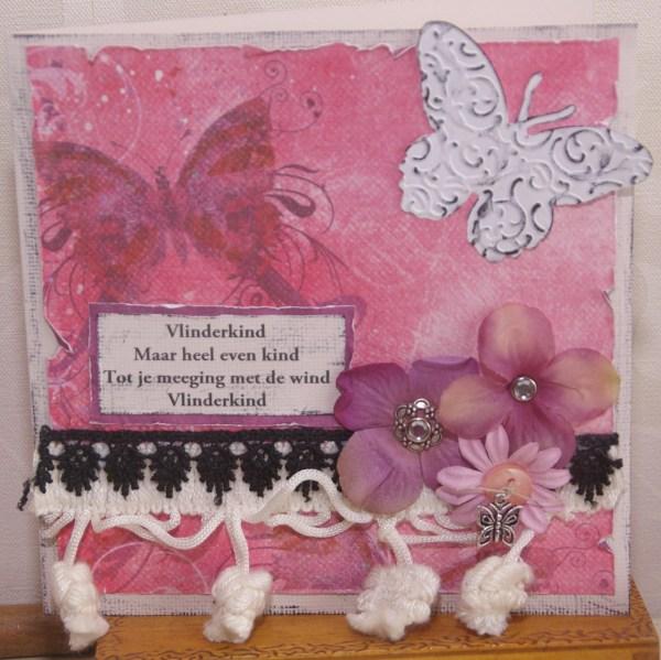 kaart voor overleden kindje vlinderkind