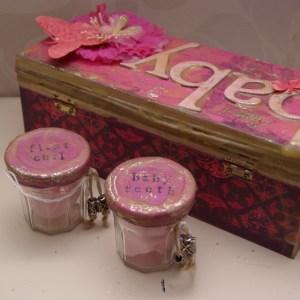 baby memorybox, mixed media gebruiksvoorwerp rotterdam nesselande taartenkunst voor comfy cosy