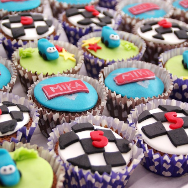 cars chocolade cupcakes
