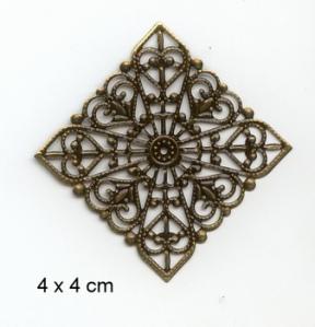 metalen ornament voor scrap en mixed media