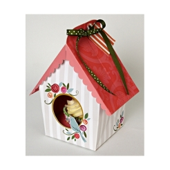 cupcake box birdhouse