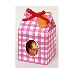 cupcake box pink gingham