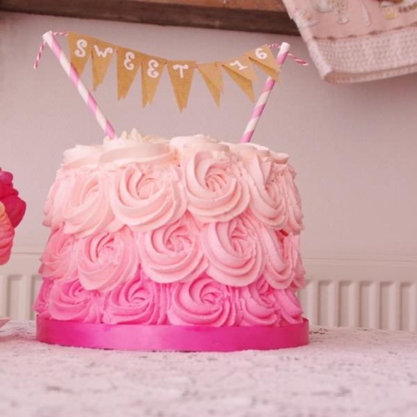 rose ombre cake red velvet mascarponecreme
