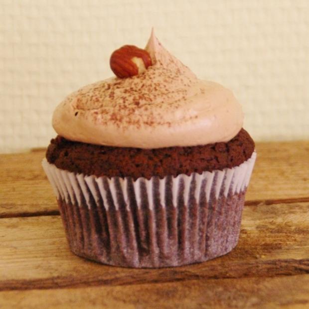 nutty chocolate cupcake