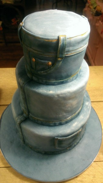 jeans men at work cake