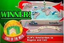 """Een Schiphol/KLM taart wint de titel """"cake of the week"""""""